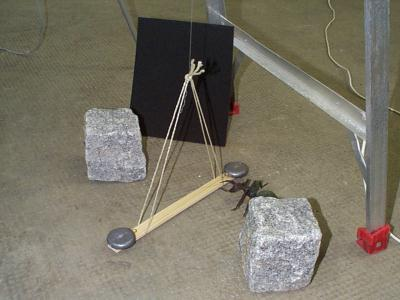 Balance built from materials available to Archimedes